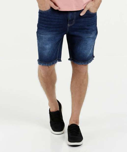 Image_Bermuda Masculina Jeans Barra Desfiada Marisa