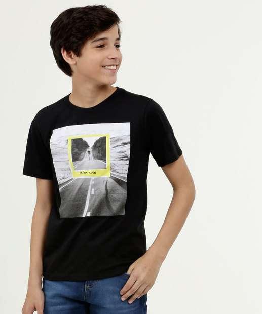 Image_Camiseta Juvenil Estampa Frontal Skate Manga Curta MR