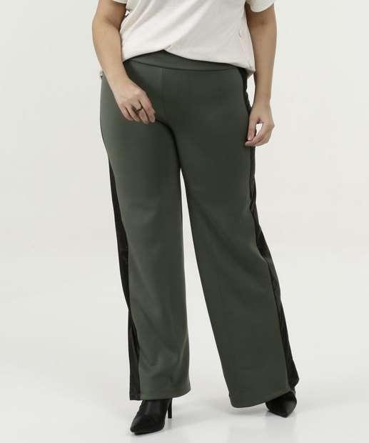 Image_Calça Feminina Pantalona Faixa Plus Size