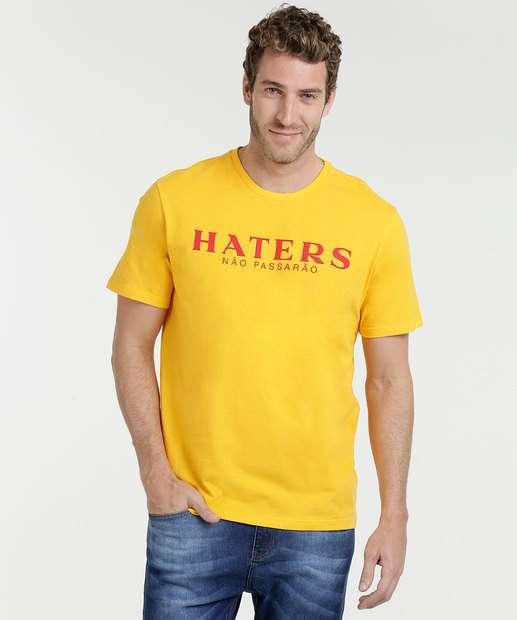 Image_Camiseta Masculina Estampa Haters Manga Curta Marisa