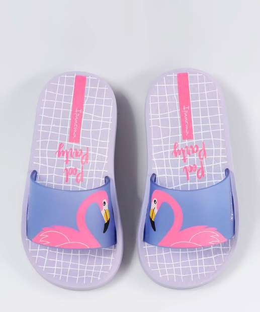 Image_Chinelo Infantil Slide Estampa Flamingo Ipanema 26325