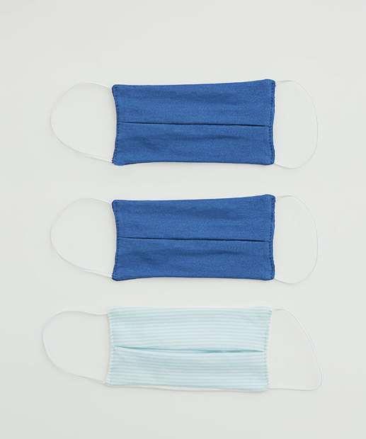 Image_Kit 3 Máscaras Proteção Infantil Listrada
