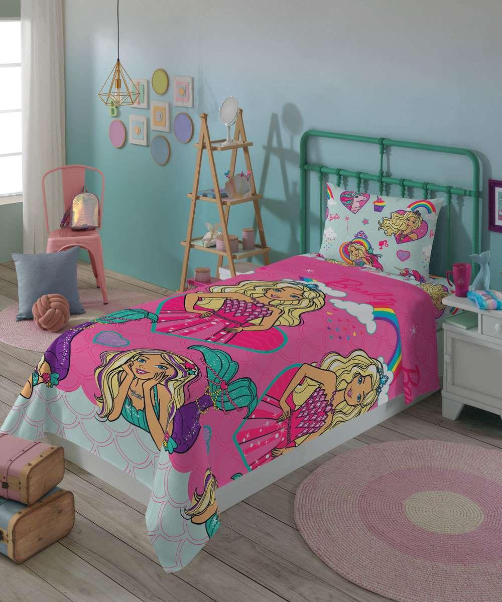 Jogo de Cama Infantil Barbie Reinos Mágicos Lepper 2 Peça