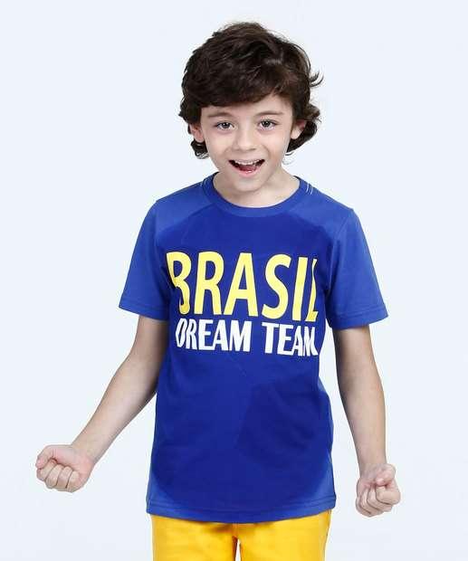 Image_Camiseta Infantil Estampa Brasil Manga Curta Marisa