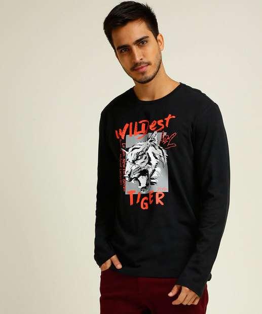 Image_Camiseta Masculina Estampa Tigre Manga Longa MR