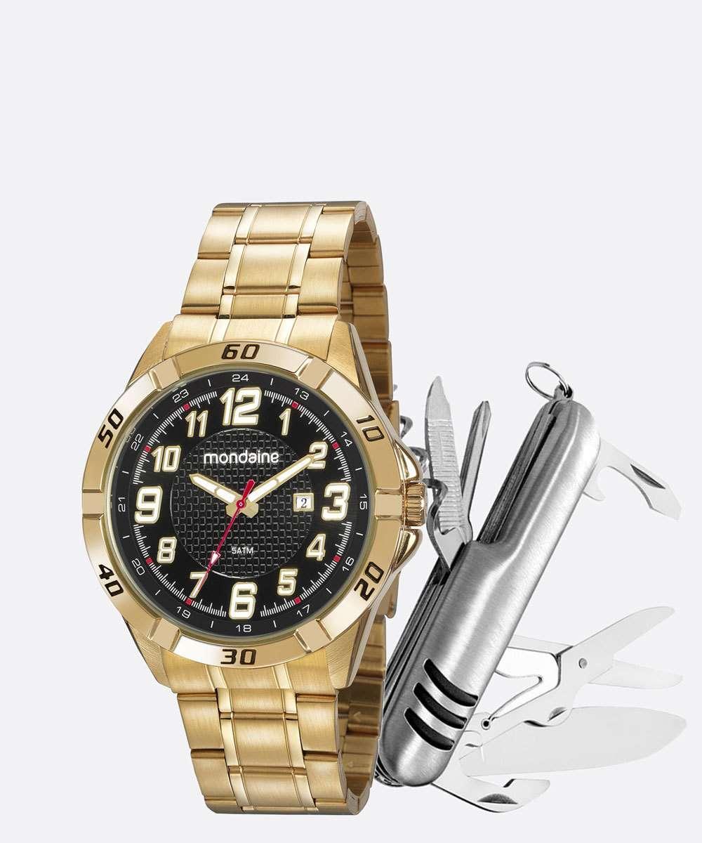 Kit Relógio Masculino Mondaine 53833GPMVDE1K