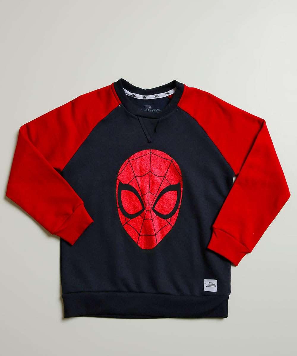 Blusão Infantil Moletom Homem Aranha Marvel Tam 4 a 10