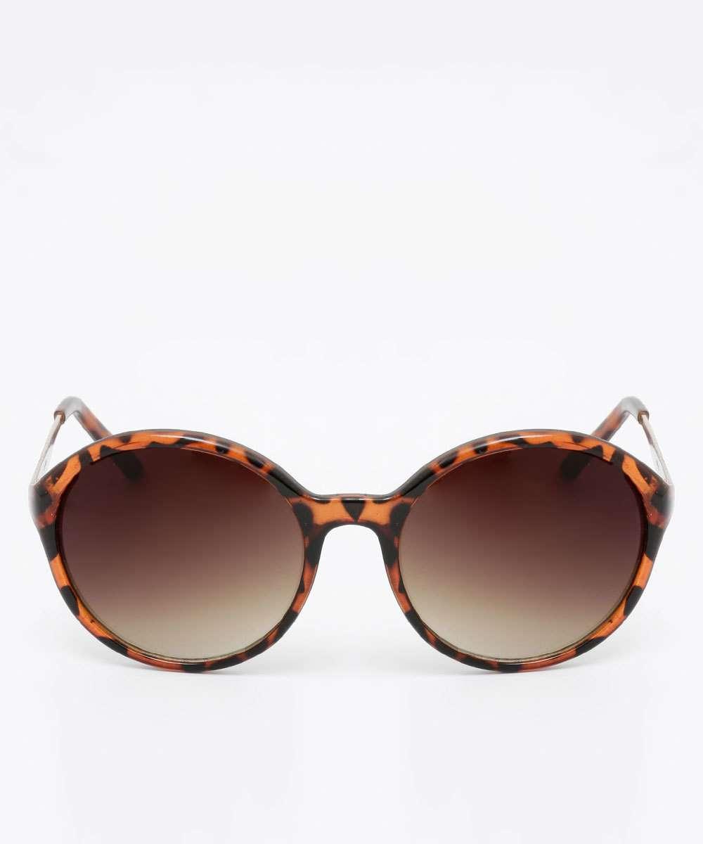 b16453f65 Óculos de Sol Feminino Estampado Redondo Marisa   Menor preço com cupom