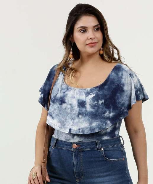 Image_Body Feminino Estampa Tie Dye Babado Plus Size Marisa