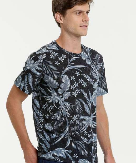 Image_Camiseta Masculina Estampa Floral Manga Curta MR