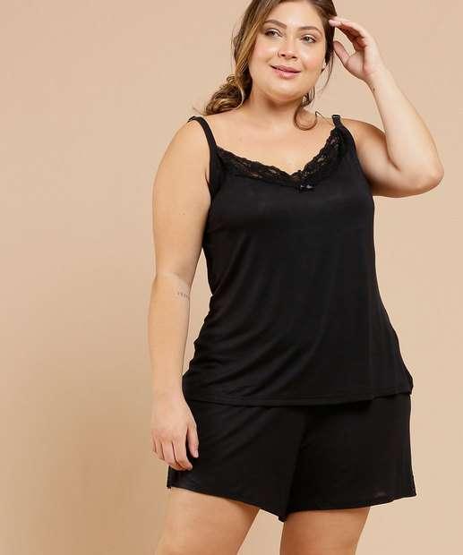 Image_Pijama Plus Size Feminino Alças Finas Marisa