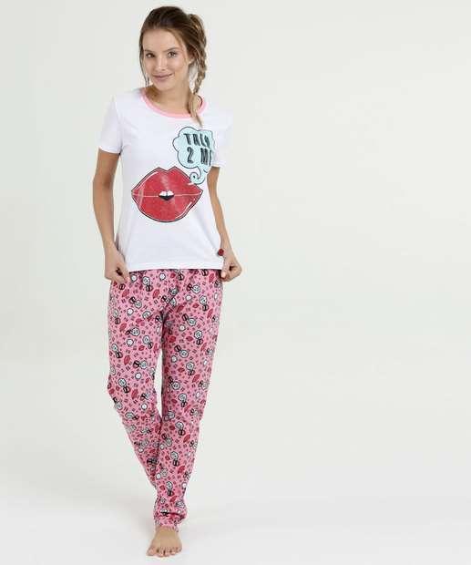 Image_Pijama Feminino Estampa Frontal Manga Curta Marisa