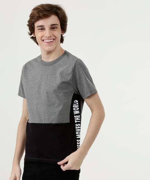 Image_Camiseta Juvenil Bicolor Manga Curta