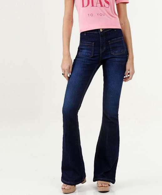 Image_Calça Feminina Jeans Flare Stretch Five Jeans
