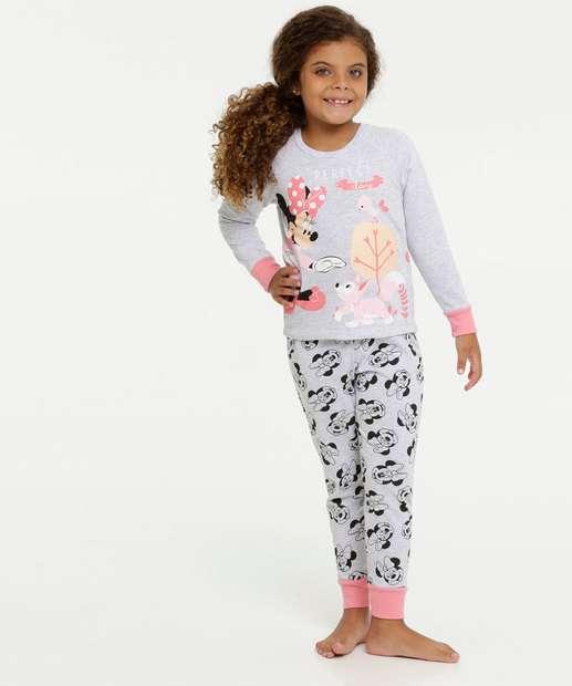 Image_Pijama Infantil Moletom Estampa Minnie Disney