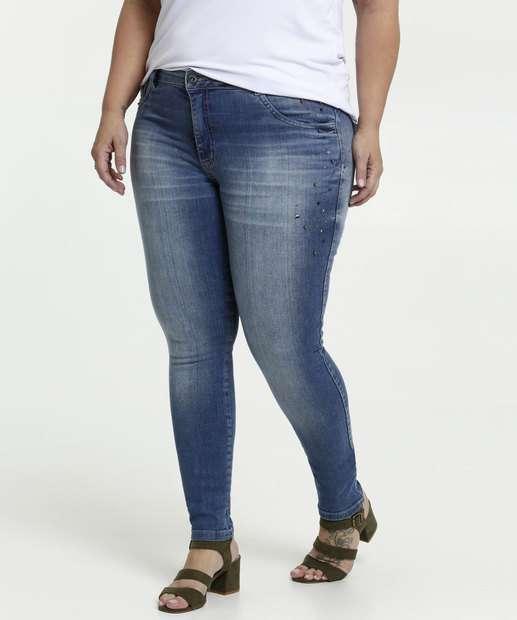 Image_Calça Feminina Jeans Strass Skinny Plus Size Biotipo