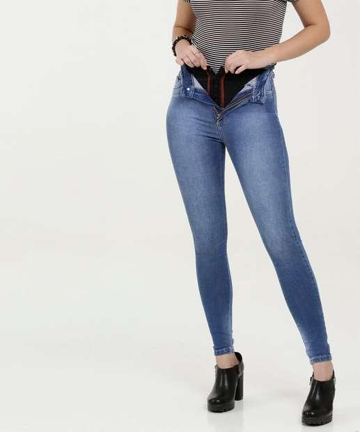 Image_Calça Feminina Jeans Super Lipo Modeladora Cigarrete Sawary