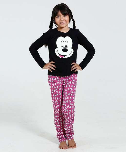 Image_Pijama Infantil Manga Longa Estampa Mickey Disney