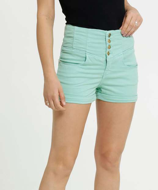 Image_Short Feminino Sarja Botões Uber Jeans