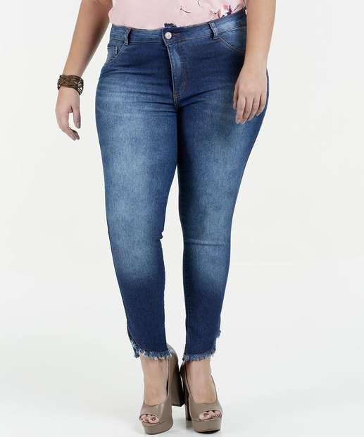 Image_Calça Feminina Jeans Cintura Alta Cigarrete Plus Size Biotipo