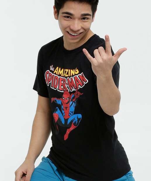 Image_Camiseta Juvenil Manga Curta Homem Aranha Marvel Tam 10 a 16