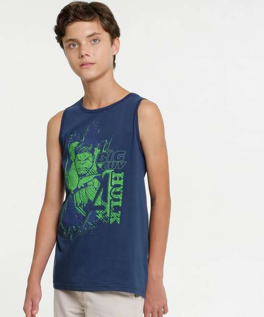 Image_Regata Juvenil Estampa Hulk Marvel