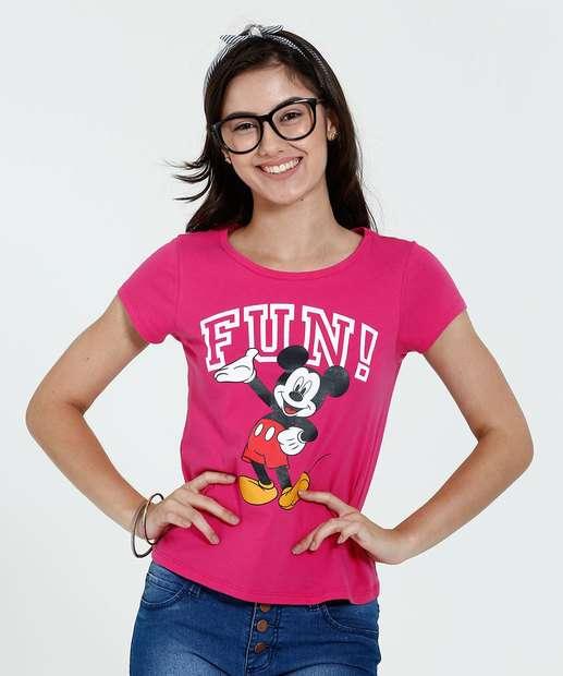 Image_Blusa Juvenil Manga Curta Estampa Frase Mickey Disney