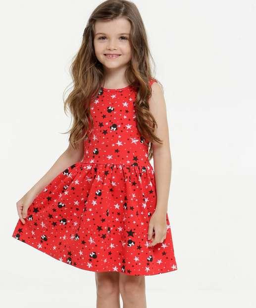 Image_Vestido Infantil Sem Manga Minnie Disney Tam 4 a 10