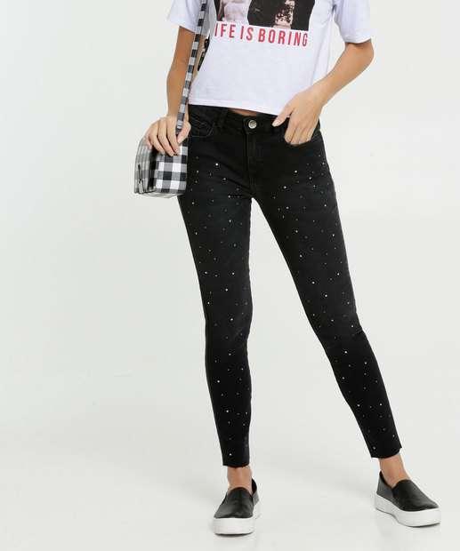 Image_Calça Jeans Skinny Tachas Feminina Marisa