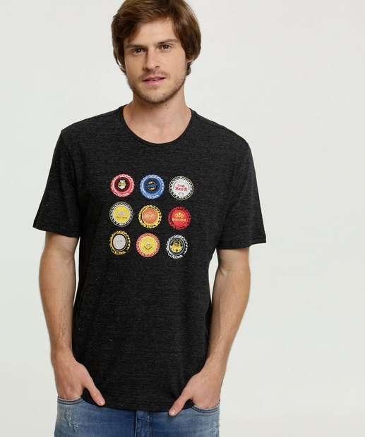 Image_Camiseta Masculina Estampa Frontal Listrada Manga Curta MR