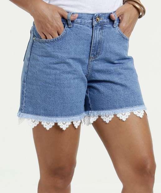 Image_Short Feminino Jeans Desfiado Gups
