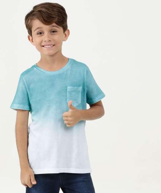 Image_Camiseta Infantil Bicolor Bolso Manga Curta Mr