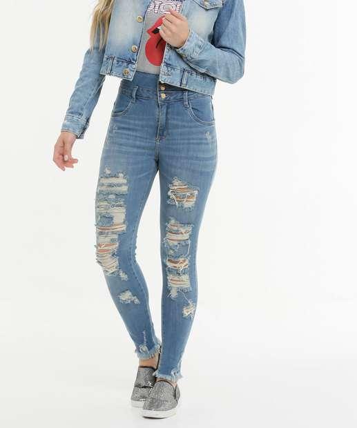 Image_Calça Feminina Skinny Destroyed Zune Jeans