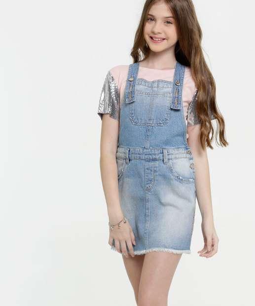 Image_Salopete Juvenil Jeans Faixa Animal Print Marisa