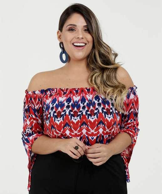 Image_Blusa Feminina Ombro a Ombro Estampada Plus Size Marisa
