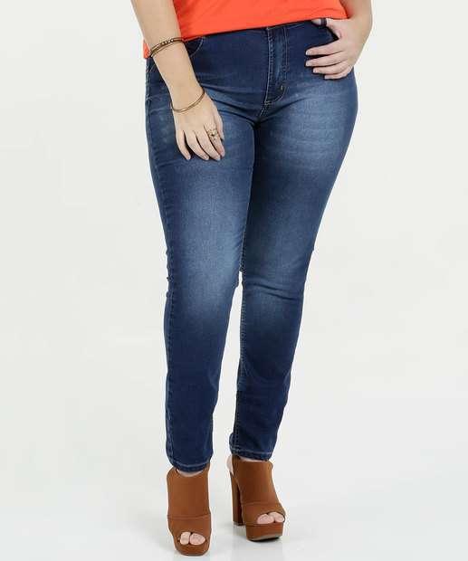 Image_Calça Feminina Plus Size Jeans Skinny Sawary
