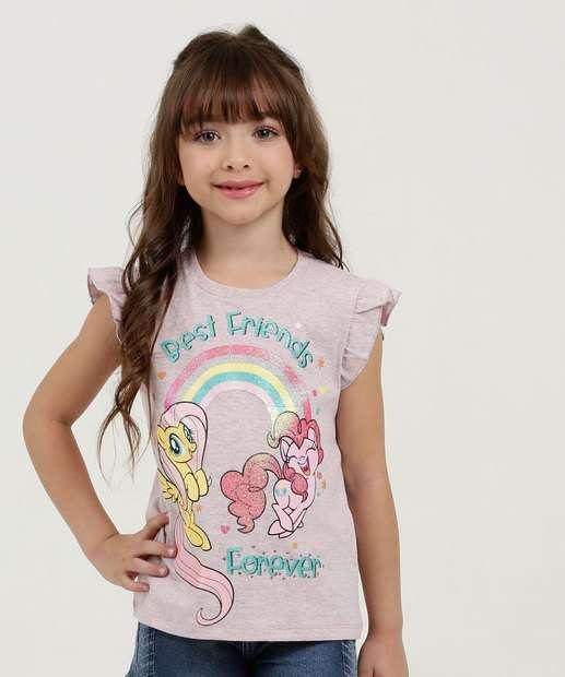 Image_Blusa Infantil Estampa My Little Ponny Manga Curta Hasbro