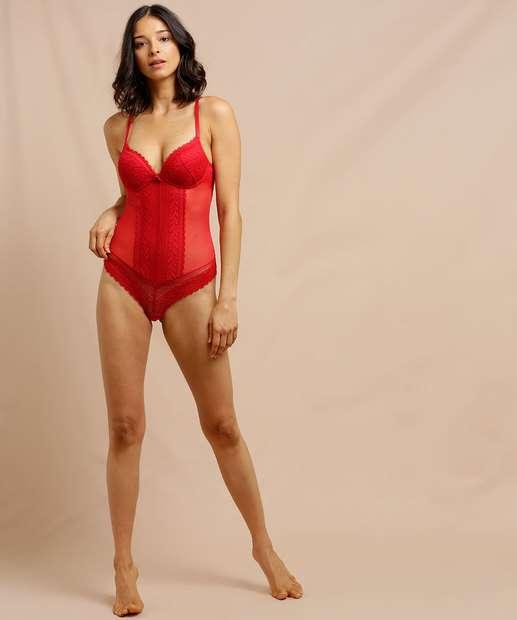 Image_Body Feminino Sensual Renda Alças Finas Lamour