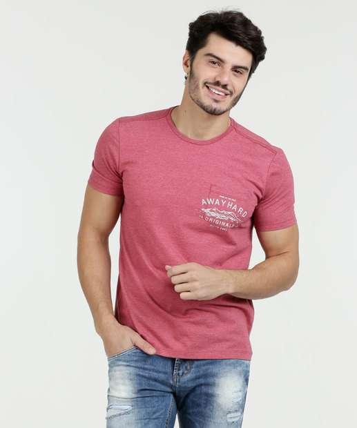 Image_Camiseta Masculina Bolso Estampado Manga Curta Marisa