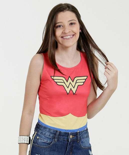 Image_Body Juvenil Estampa Mulher Maravilha Liga da Justiça