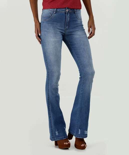 Image_Calça Feminina Jeans Puídos Flare Biotipo