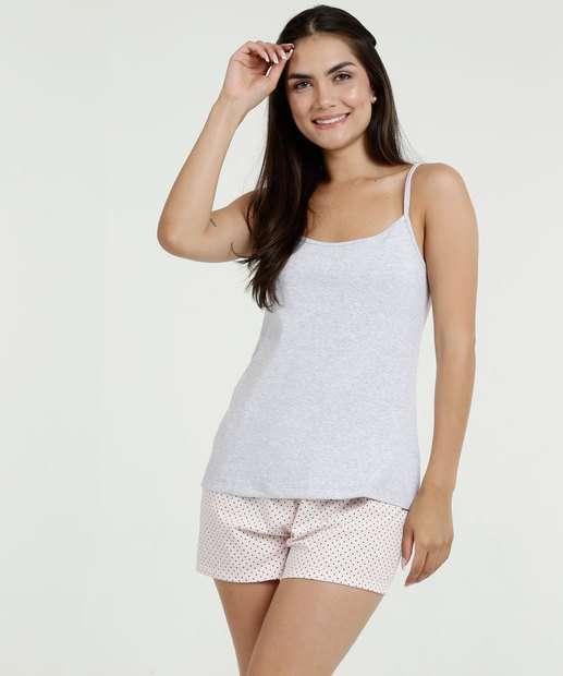 Image_Pijama Feminino Estampa Bolinhas Alças Finas Marisa