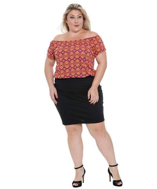 Image_Vestido Feminino Estampado Ombro a Ombro Plus Size marisa