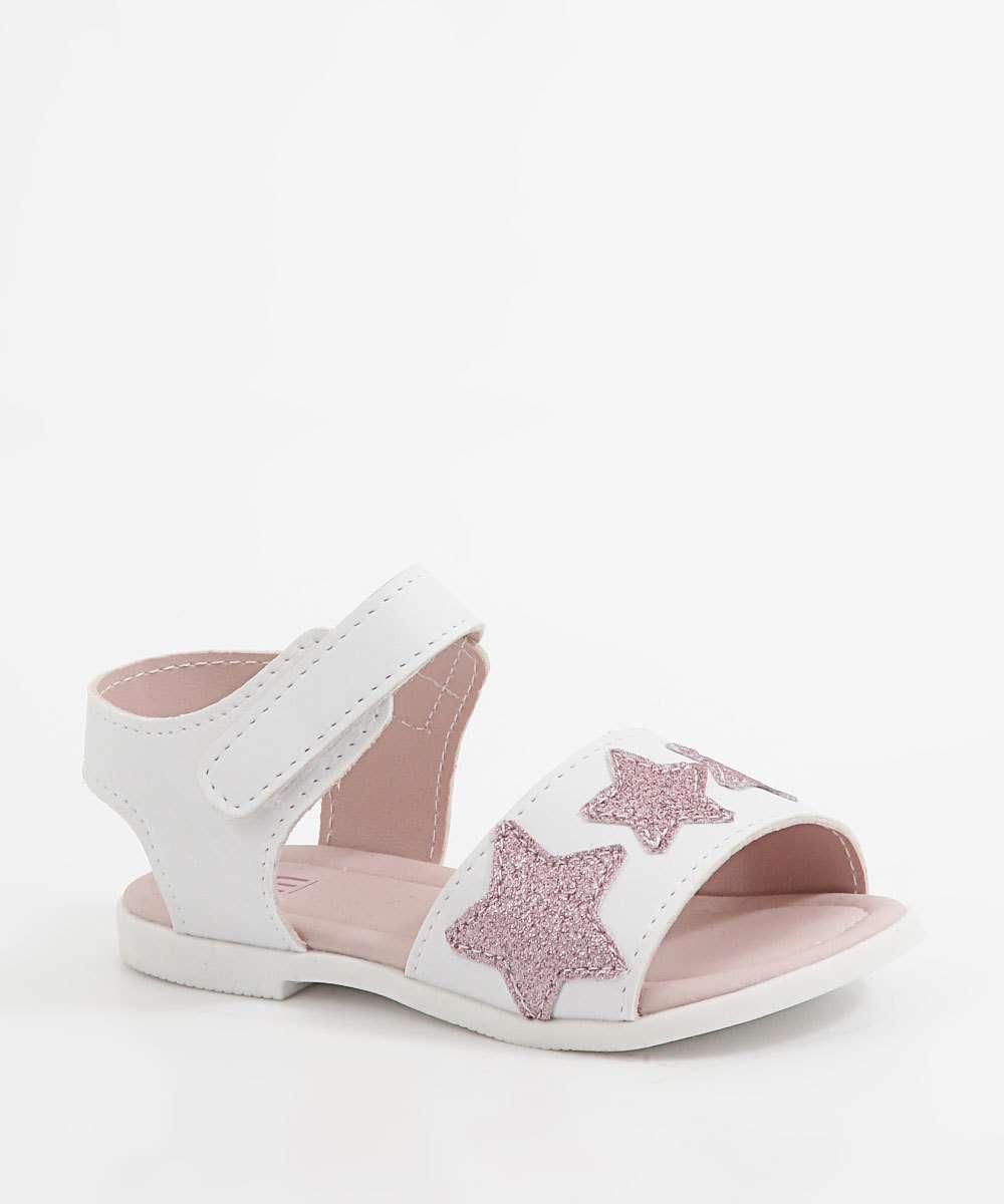 Sandália Infantil Estrelas Glitter Marisa