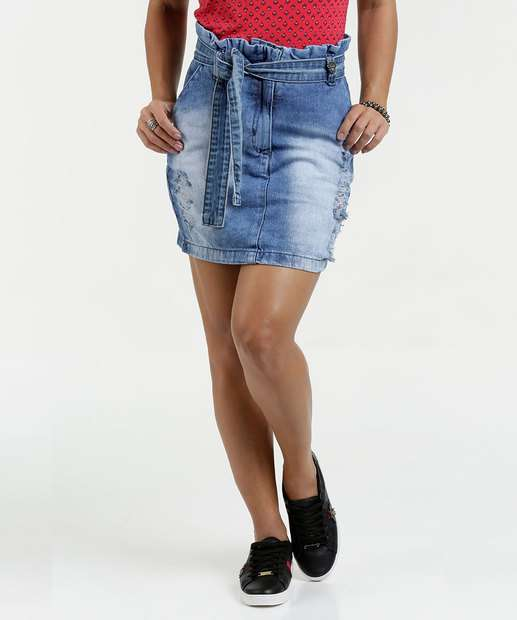 Image_Saia Feminina Jeans Clochard Destroyed Razon
