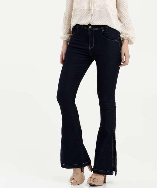 Image_Calça Feminina Flare Bolsos Zune Jeans By Sabrina Sato