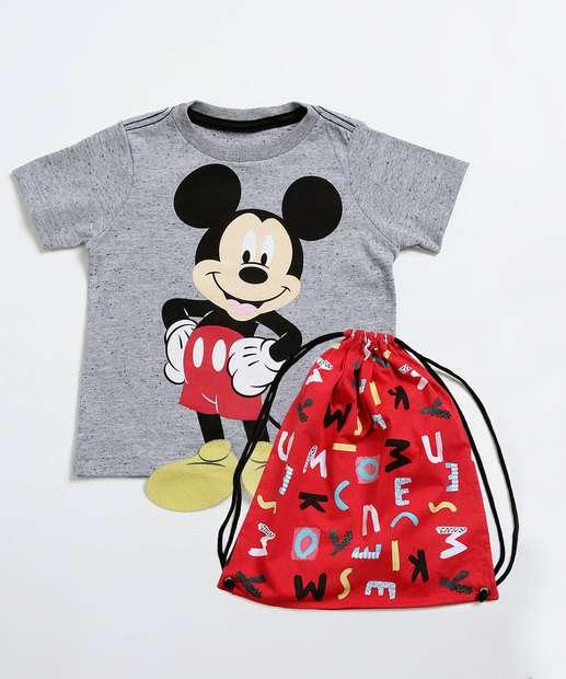 Image_Camiseta Infantil Botonê Estampa Mickey Brinde Disney