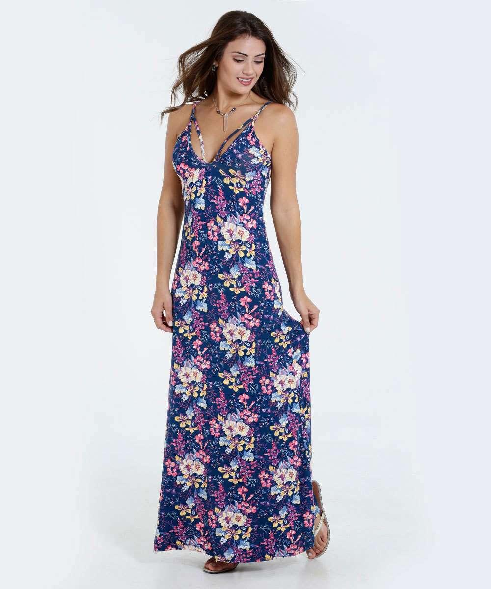 8fb21a4ad Vestido Feminino Longo Estampa Floral Marisa | Marisa