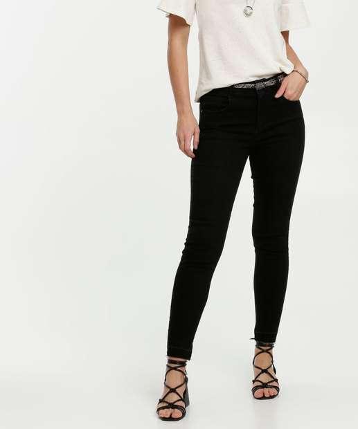 Image_Calça Feminina Jeans Stretch Cinto Skinny Marisa