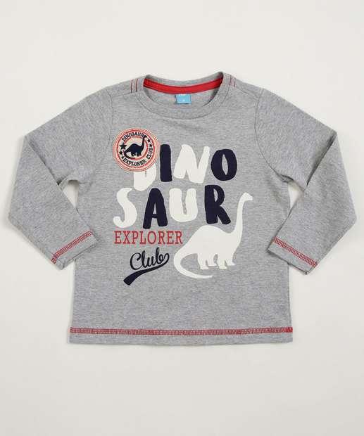 Image_Camiseta Infantil Estampa Dinossauro Manga Longa Mr